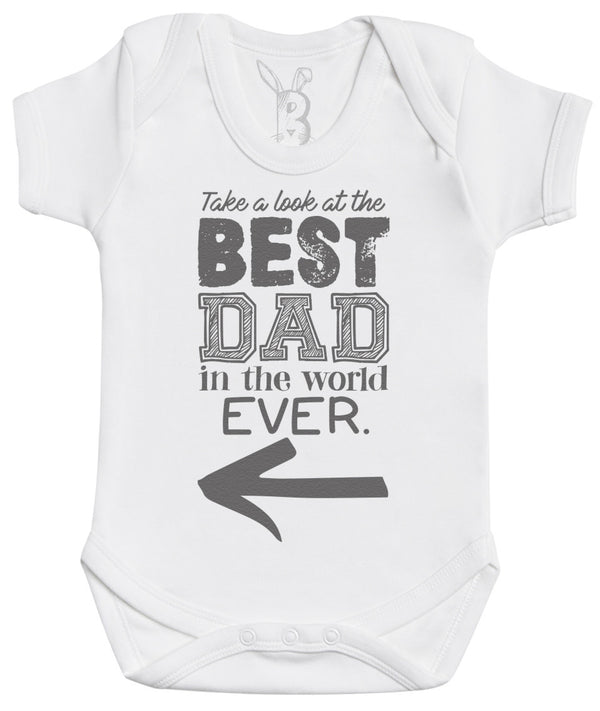 Best Dad Ever In The World Baby Bodysuit - Baby Onsie - Baby Gift