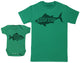 Little Fish - Baby Gift Set with Baby Bodysuit & Father's T-Shirt