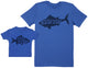 Little Fish - Baby Gift Set with Baby T-Shirt & Father's T-Shirt
