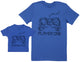 Player One & Player Two - Baby Gift Set with Baby T-Shirt & Father's T-Shirt