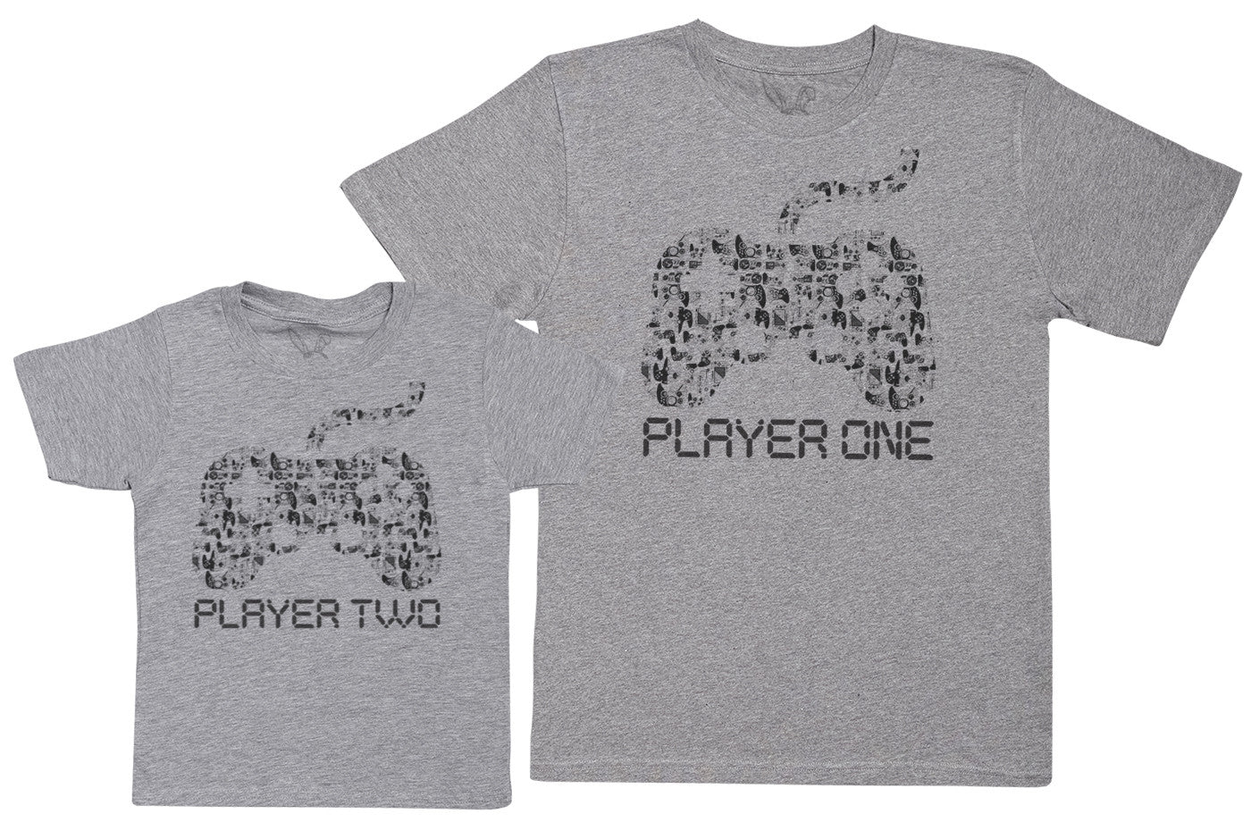 Player One & Player Two - Kid's Gift Set with Kid's T-Shirt & Father's T-Shirt