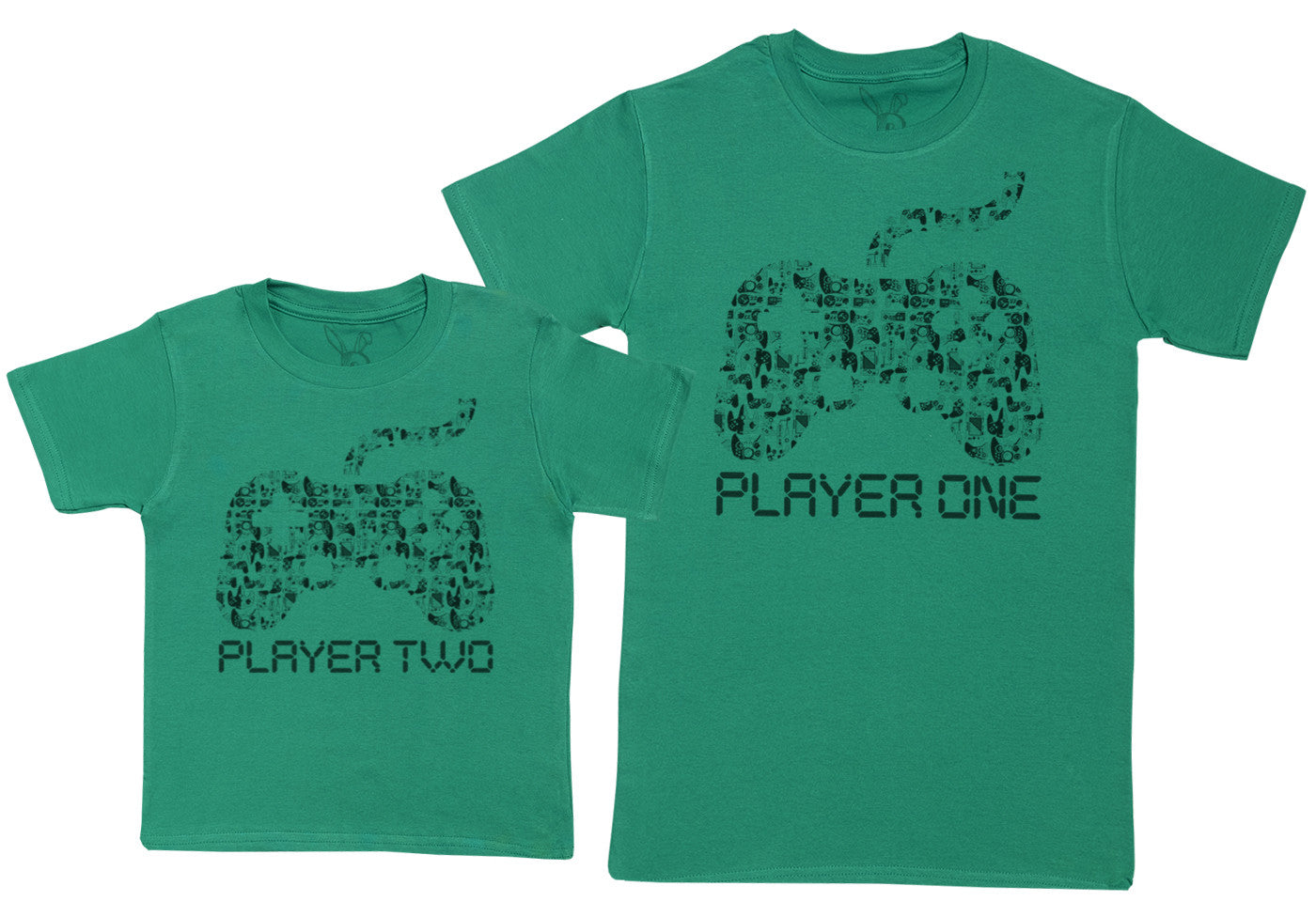 Player One /& Player Two Baby Gift Set with Baby T-Shirt /& Fathers T-Shirt