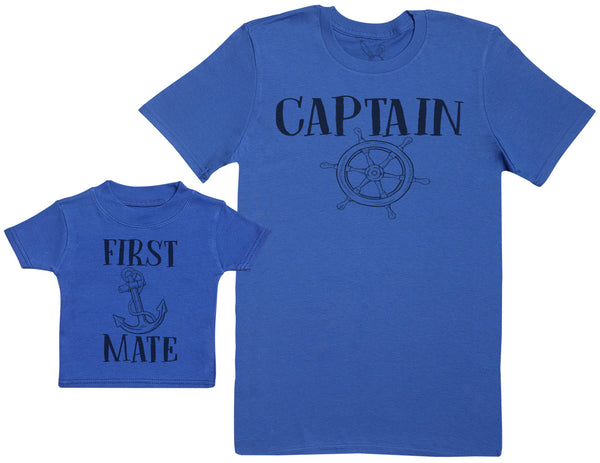 First Mate - Baby Gift Set with Baby T-Shirt & Father's T-Shirt