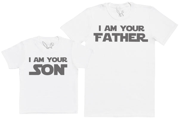 I Am Your Son & I Am Your Father - Kid's Gift Set with Kid's T-Shirt & Father's T-Shirt