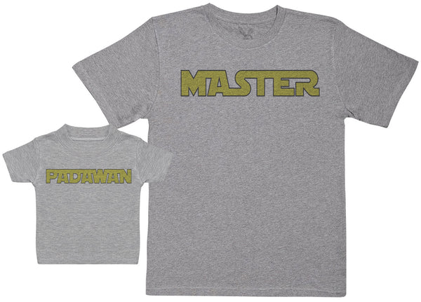 Master & Padawan - Baby Gift Set with Baby T-Shirt & Father's T-Shirt