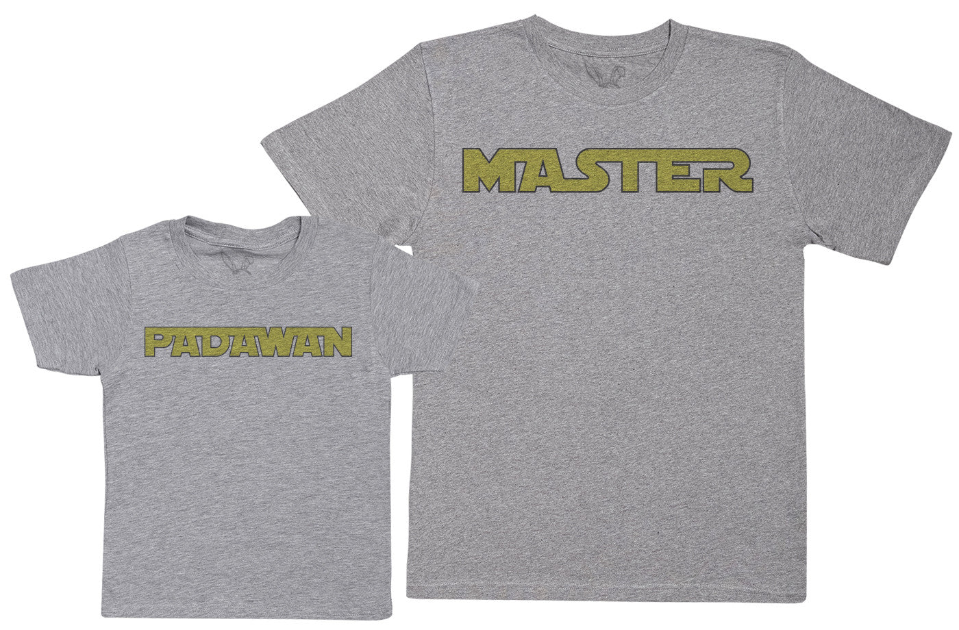 Master & Padawan - Kid's Gift Set with Kid's T-Shirt & Father's T-Shirt