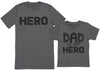 MY Dad Is My Hero - Kid's Gift Set with Kid's T-Shirt & Father's T-Shirt