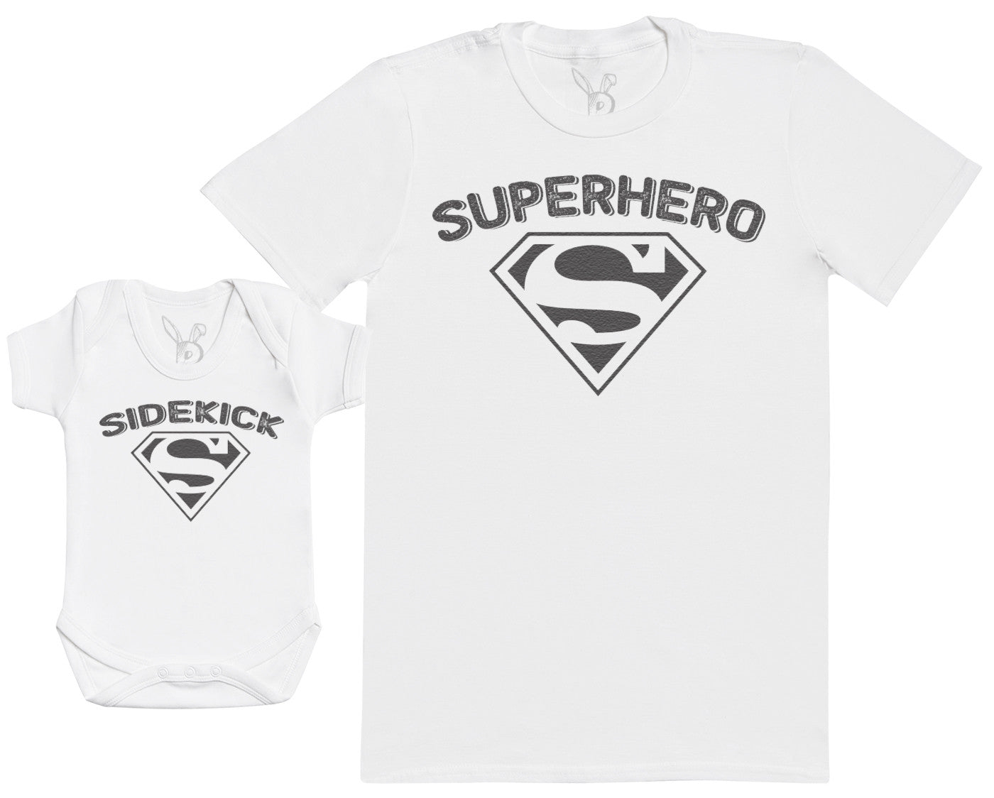 Matching Father Baby Gift Set Mens T Shirt /& Baby Bodysuit Keep Calm Dad is A Super Hero