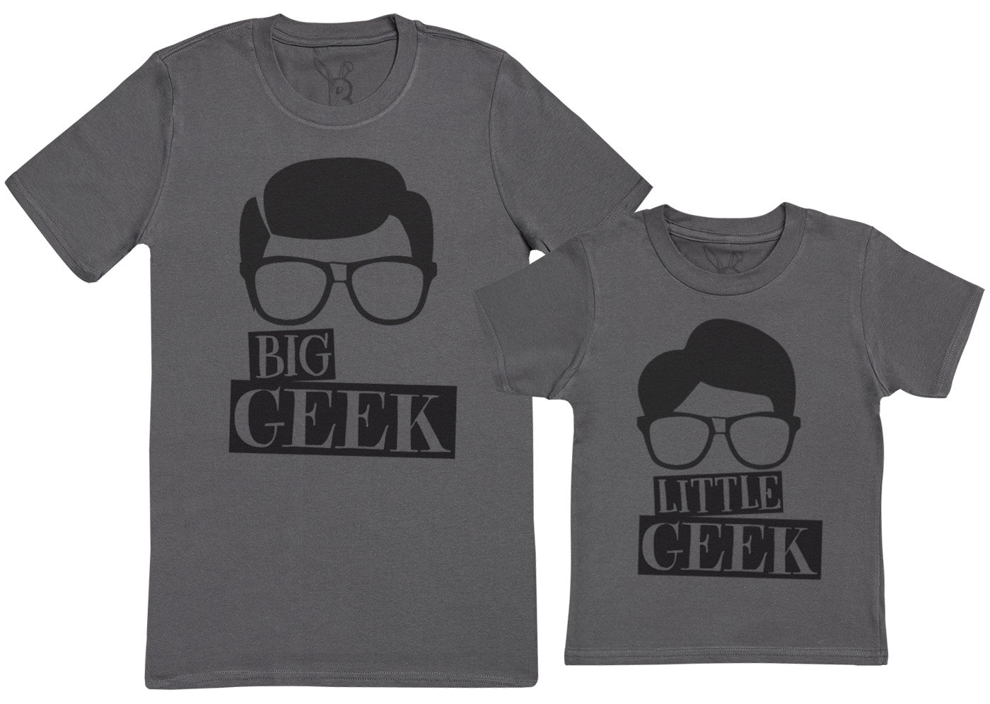 Big Geek & Little Geek - Kid's Gift Set with Kid's T-Shirt & Father's T-Shirt