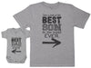 Best Son In The World Ever - Baby Gift Set with Baby Bodysuit & Father's T-Shirt