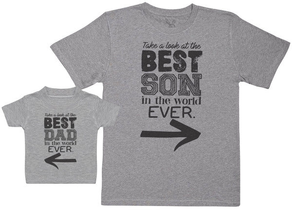 Best Son In The World Ever - Baby Gift Set with Baby T-Shirt & Father's T-Shirt