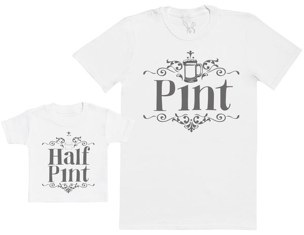 Half Pint - Baby Gift Set with Baby T-Shirt & Father's T-Shirt