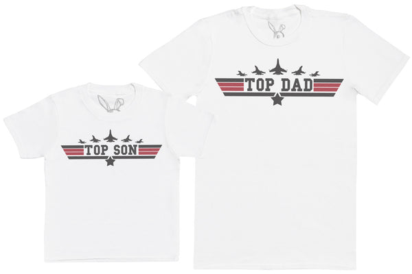 Top Son & Top Dad - Kid's Gift Set with Kid's T-Shirt & Father's T-Shirt