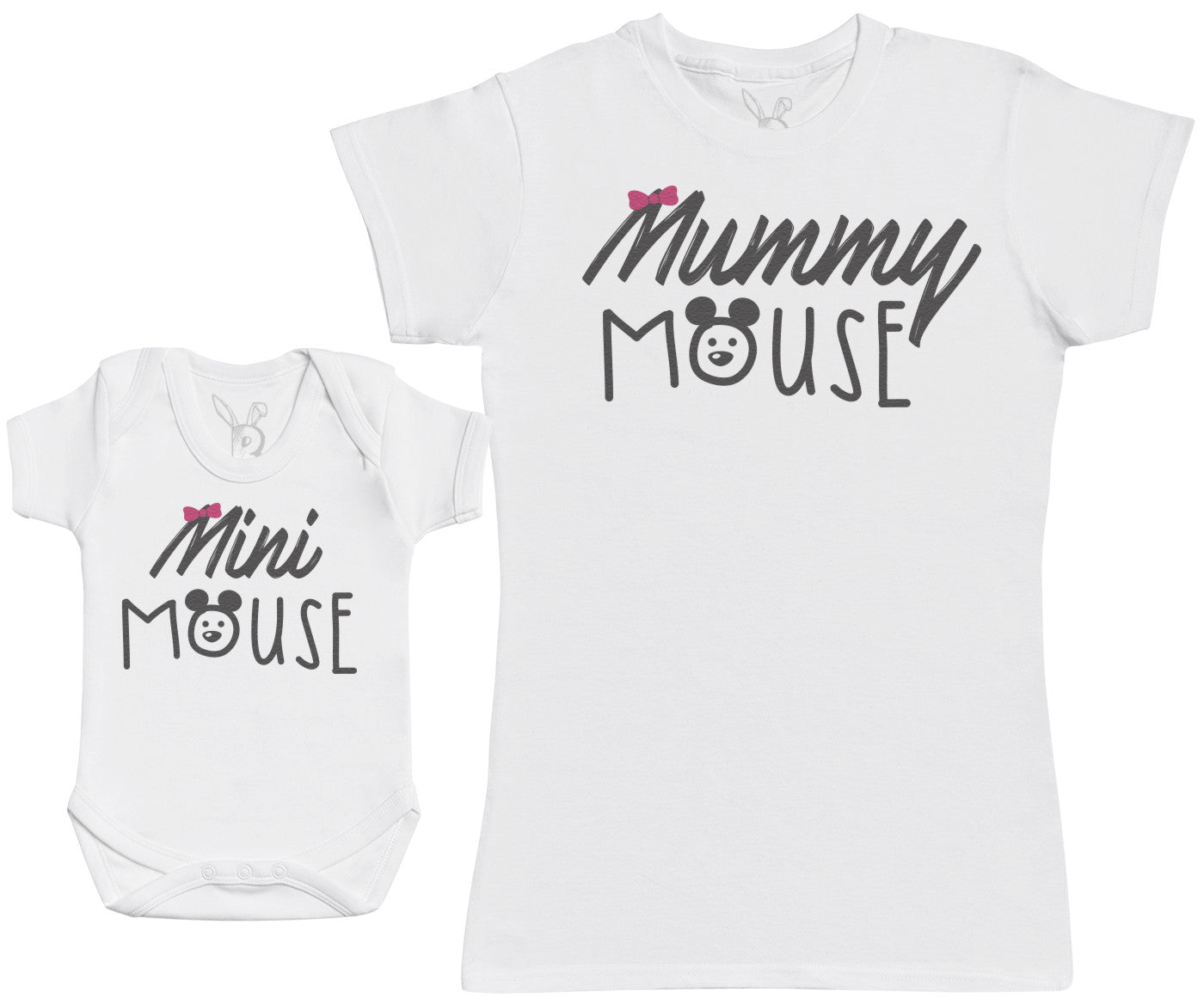 Mini Mouse - Baby Gift Set with Baby Bodysuit & Mother's T-Shirt