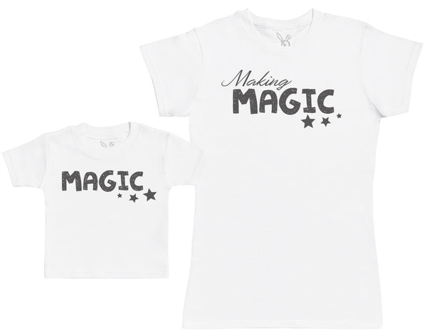 Making Magic - Baby Gift Set with Baby T-Shirt & Mother's T-Shirt