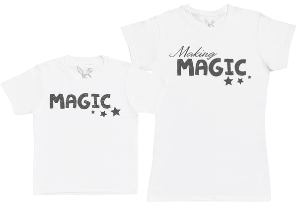Making Magic - Kid's Gift Set with Kid's T-Shirt & Mother's T-Shirt