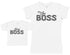 Mini Boss & The Boss - Baby Gift Set with Baby T-Shirt & Mother's T-Shirt