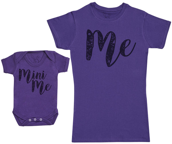 Me & Mini Me - Baby Gift Set with Baby Bodysuit & Mother's T-Shirt