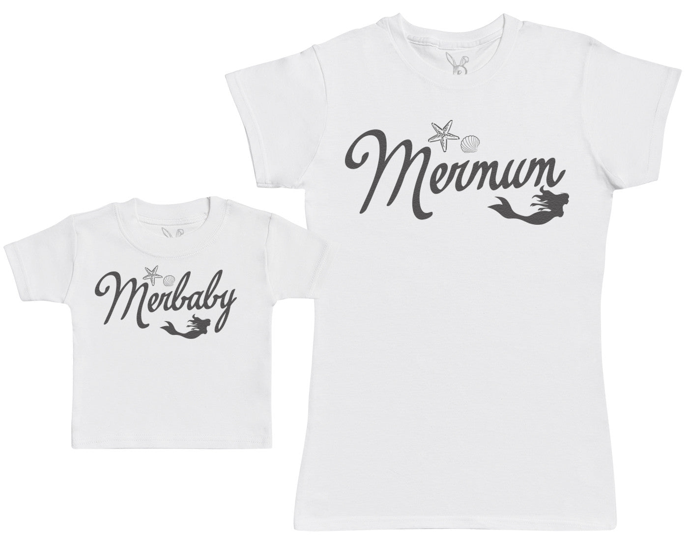 Merbaby - Baby Gift Set with Baby T-Shirt & Mother's T-Shirt