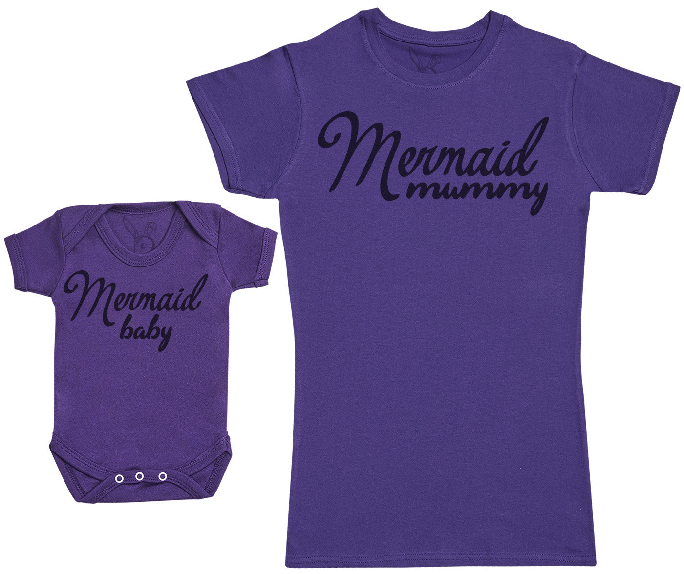 Mermaid Baby - Baby Gift Set with Baby Bodysuit & Mother's T-Shirt