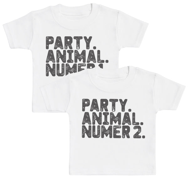 Party. Animal. Number 1 & 2. Baby T-Shirt Twin Set