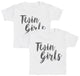 Twin Girls Kids T-Shirt - Kids Top - Boys T-Shirt - Girls T-Shirt
