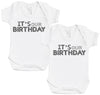 IT's Our Birthday Baby Bodysuit - Baby Gift Twin Set