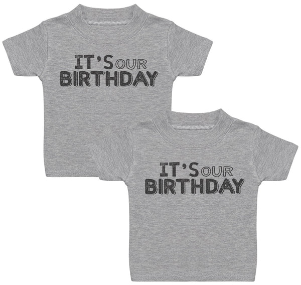 IT's Our Birthday Baby T-Shirt Twin Set