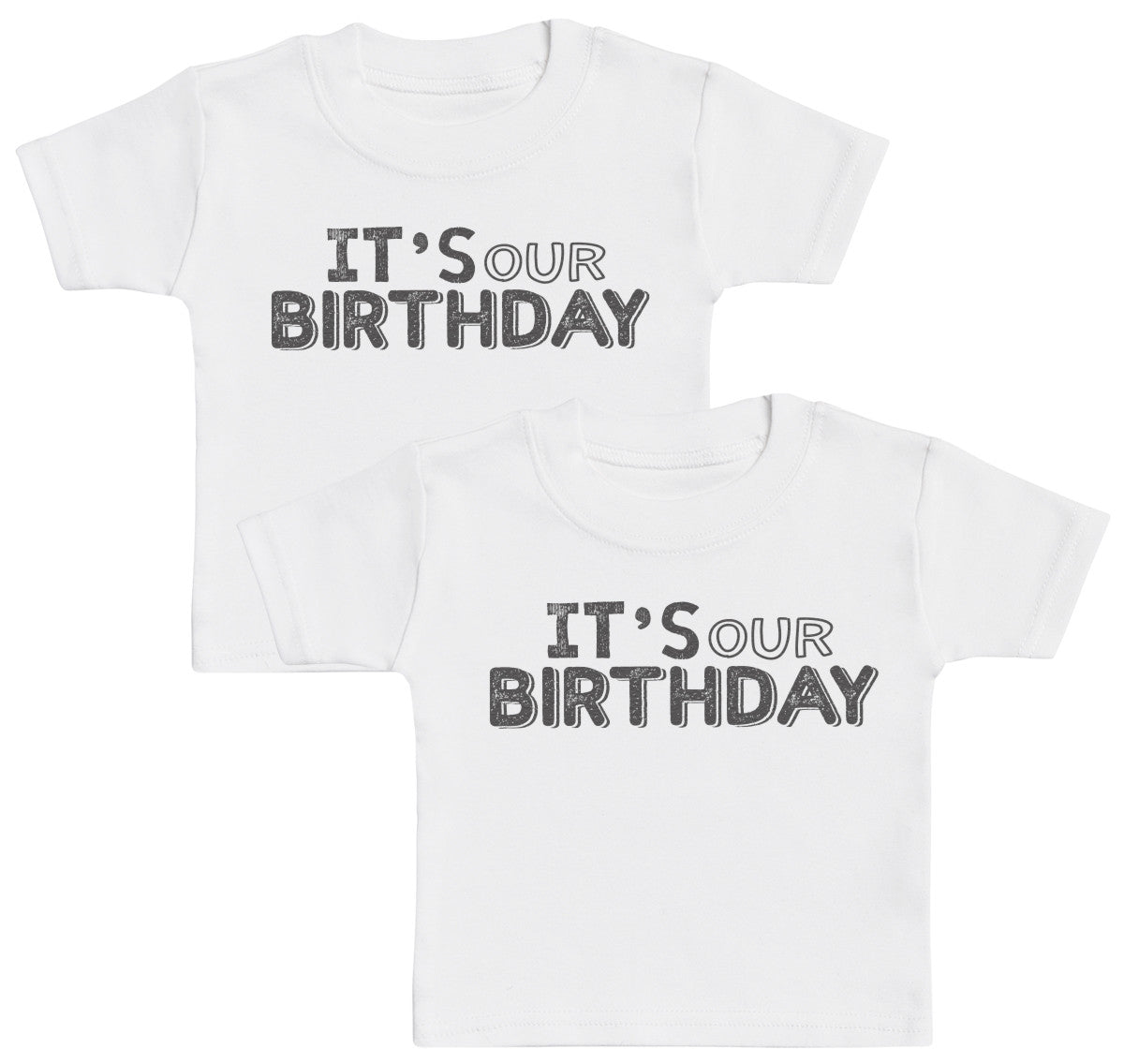 6fd47289c IT's Our Birthday Baby T-Shirt Twin Set | Zarlivia Clothing