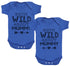 Both Wild About Mummy Baby Bodysuit - Baby Onsie - Baby Gift Twin Set