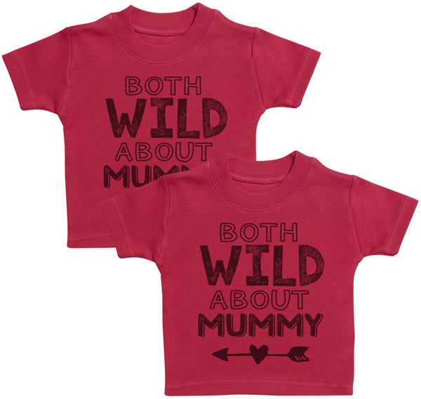 Both Wild About Mummy Kids T-Shirt - Kids Top - Boys T-Shirt - Girls T-Shirt