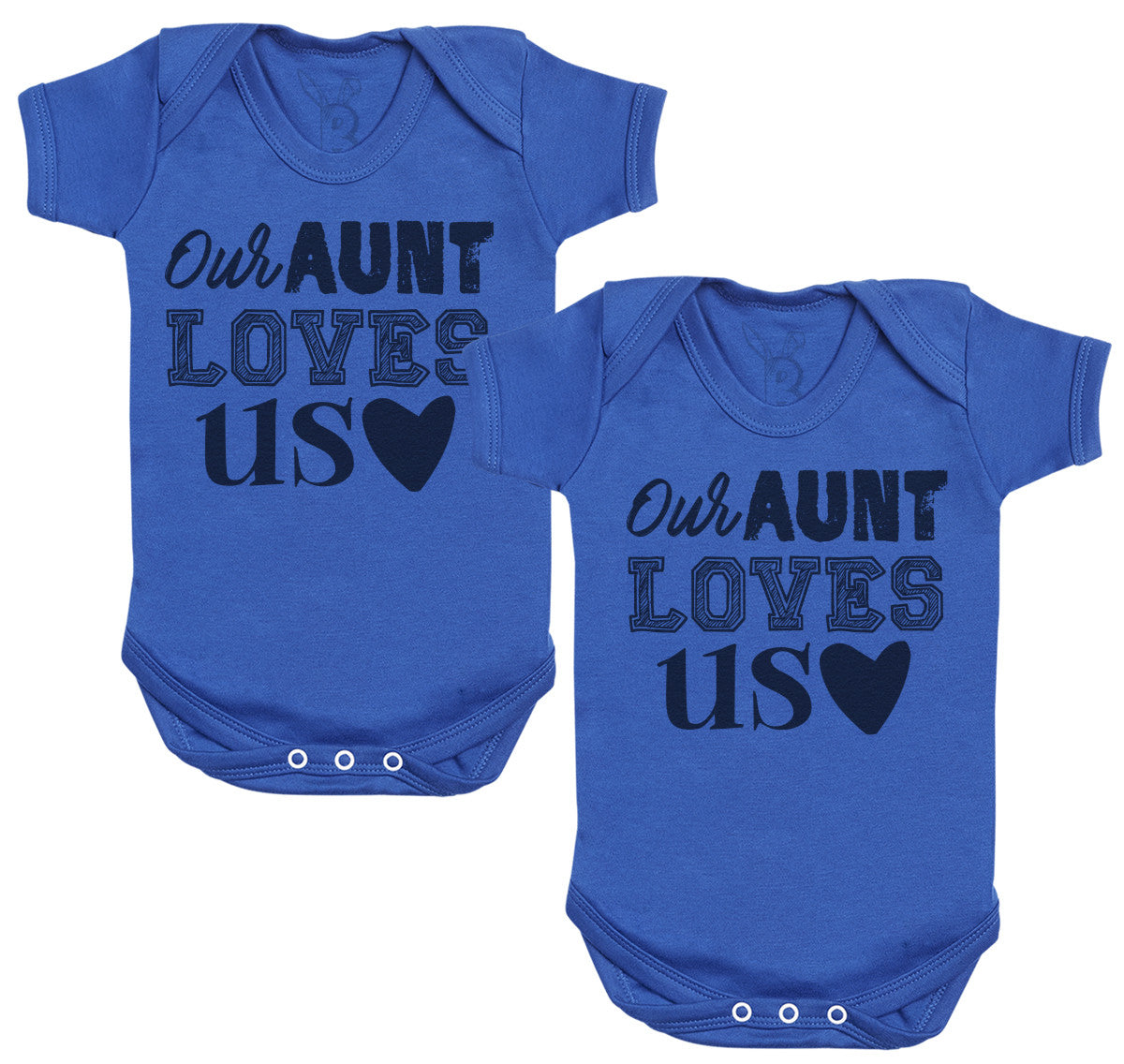 Our Aunt Loves Us Baby Bodysuit - Baby Gift Twin Set