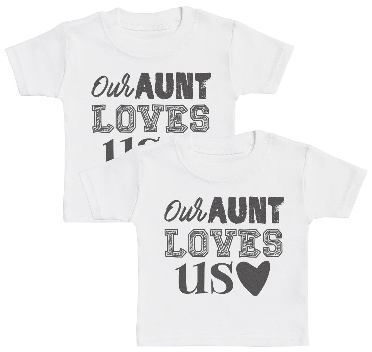 Our Aunt Loves Us Kids T - Shirt - Kids Top - Boys T - Shirt - Girls T - Shirt