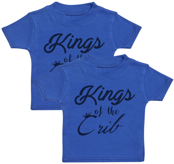 Kings Of The Crib Baby T-Shirt Twin Set