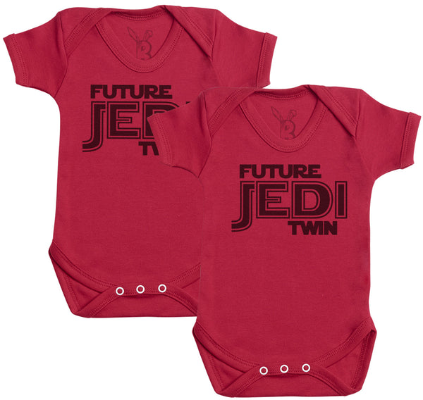 Future Jedi Twins Baby Bodysuit - Baby Onsie - Baby Gift Twin Set