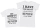 Awesome Nephew - Aunty T-Shirt & Kids T-Shirt