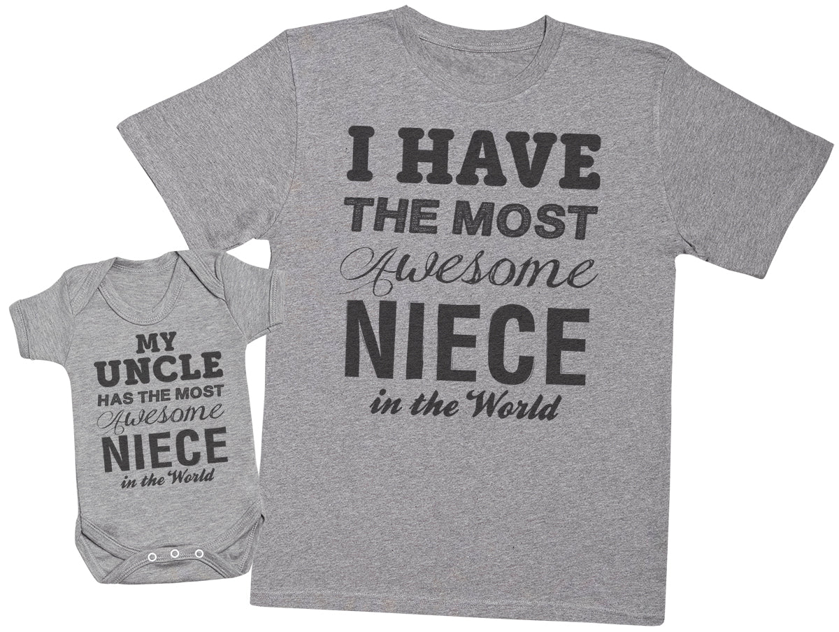 Most Awesome Niece - Uncle T Shirt & Baby Bodysuit