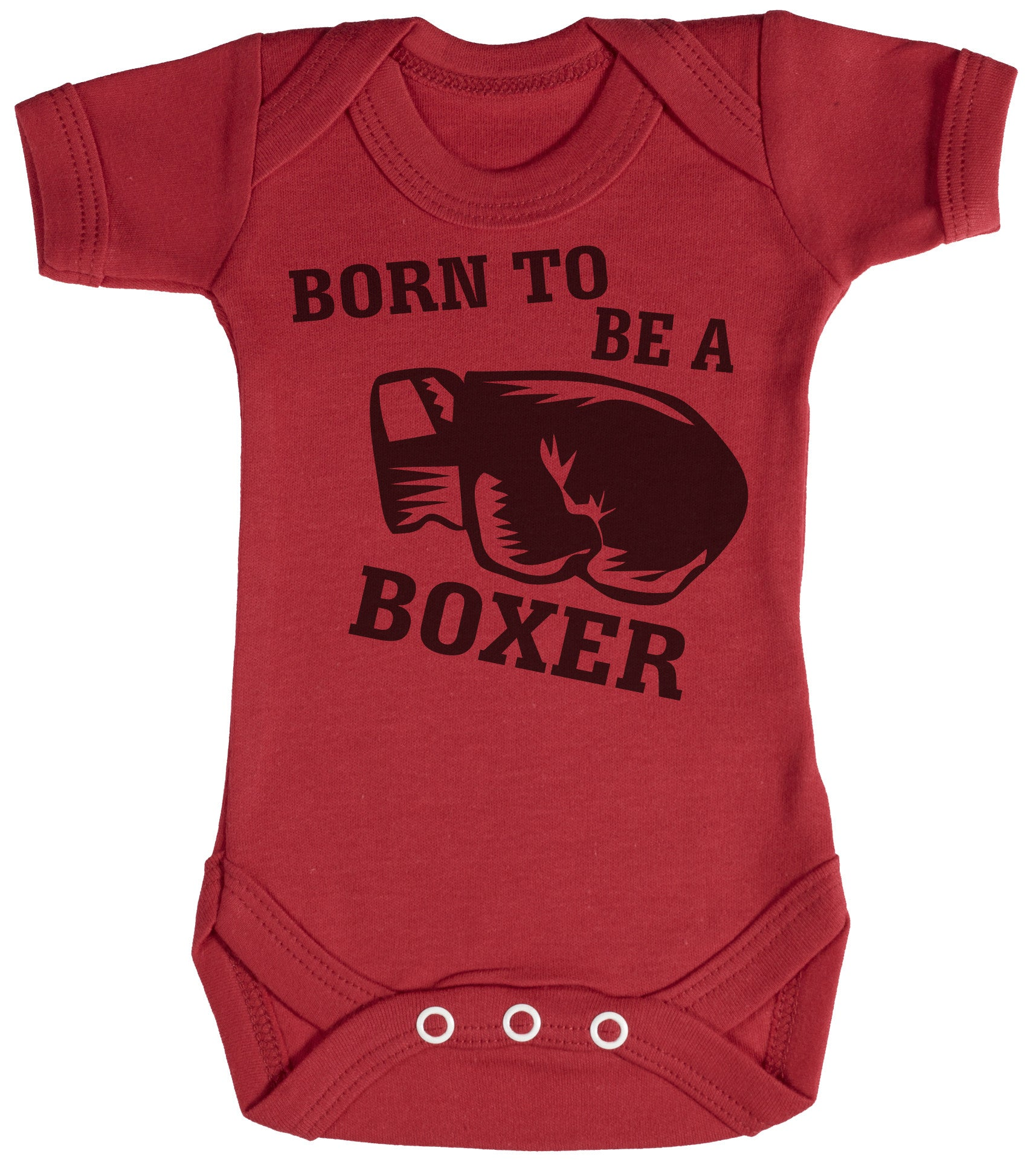 Born To Be A Boxer Baby Bodysuit / Babygrow