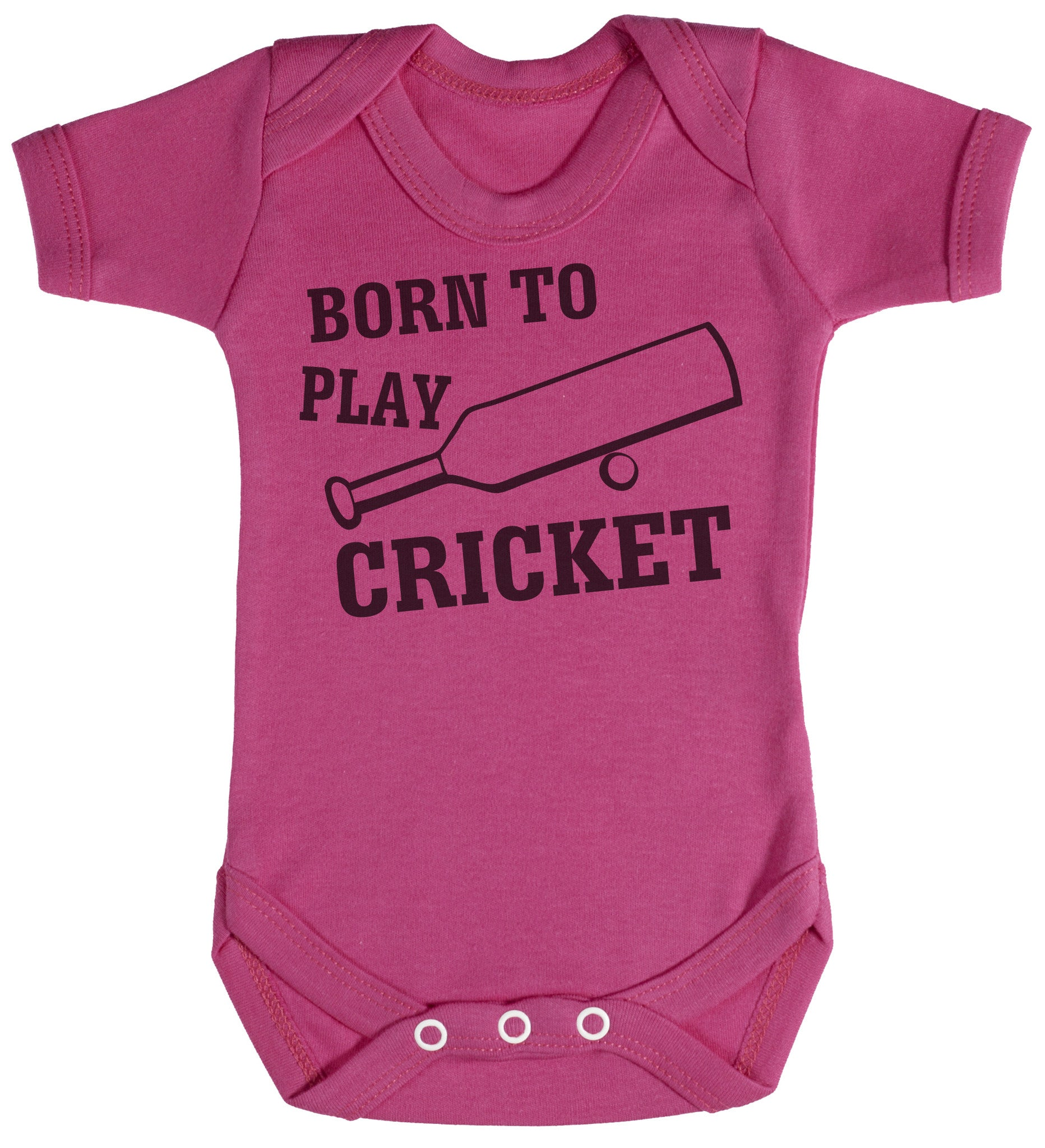 New Baby Vests Bodysuits for Boys Girls Gift Born to Go Cricket with My Daddy