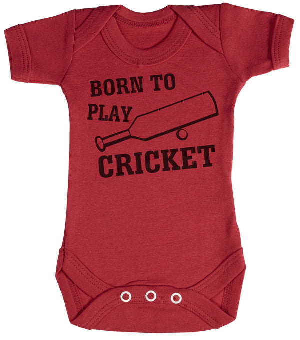 Born To Play Cricket Baby Bodysuit / Babygrow