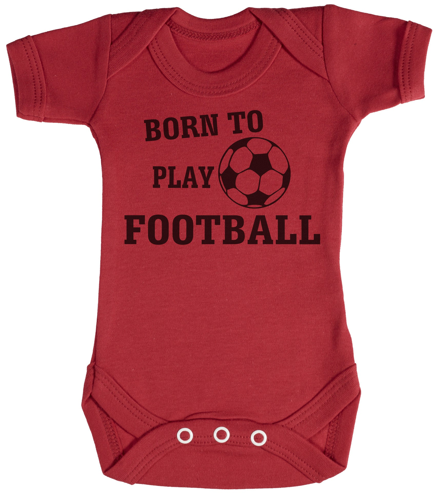 Born To Play Football Baby Bodysuit / Babygrow