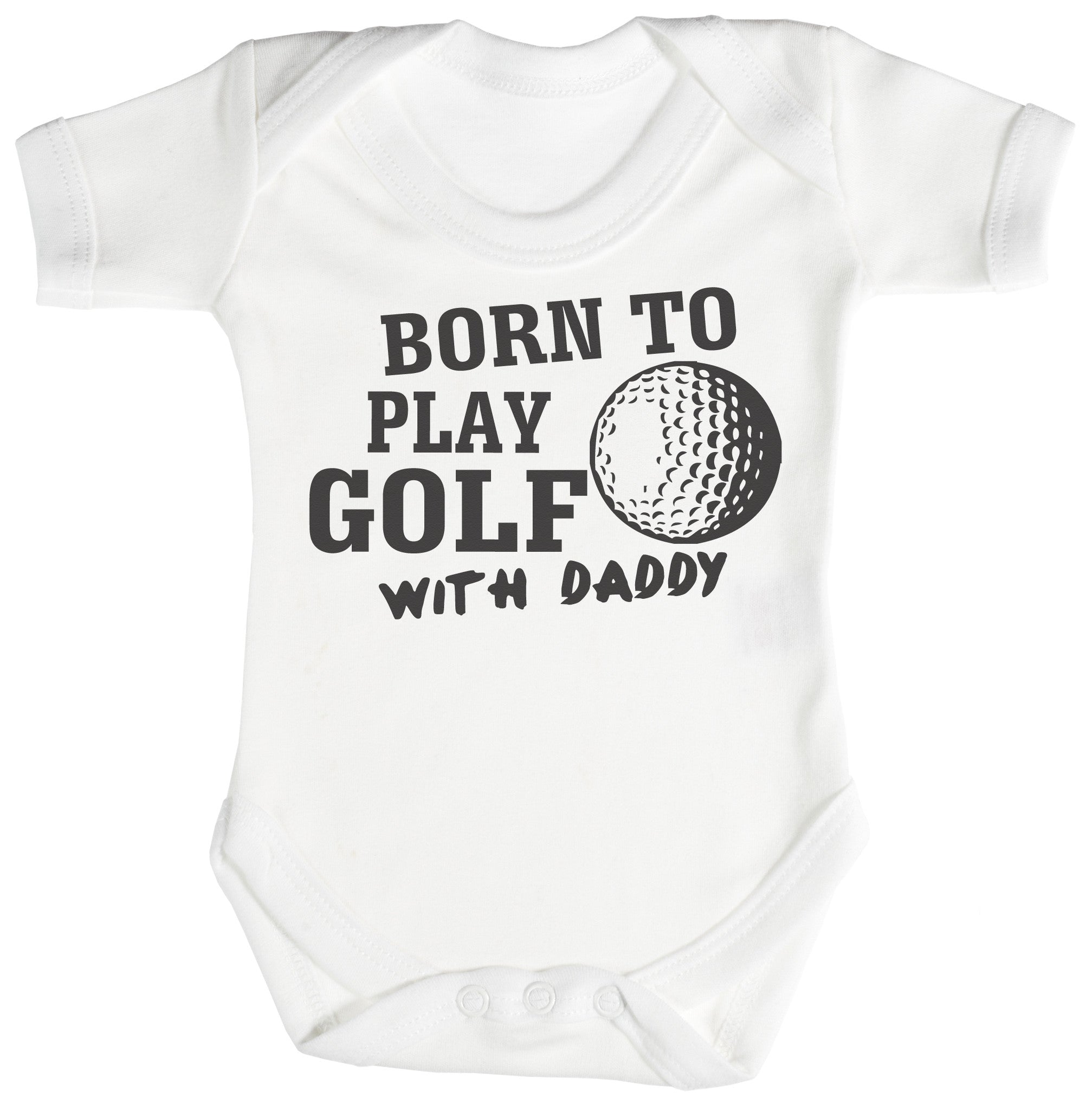 Born To Play Golf Baby Bodysuit / Babygrow