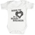 Born To Be A Heart Breaker Baby Bodysuit / Babygrow