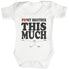 Love Brother This Much Baby Bodysuit / Babygrow
