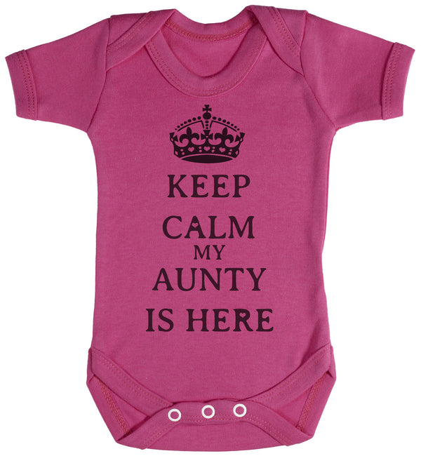 Calm Aunty is Here Baby Bodysuit / Babygrow