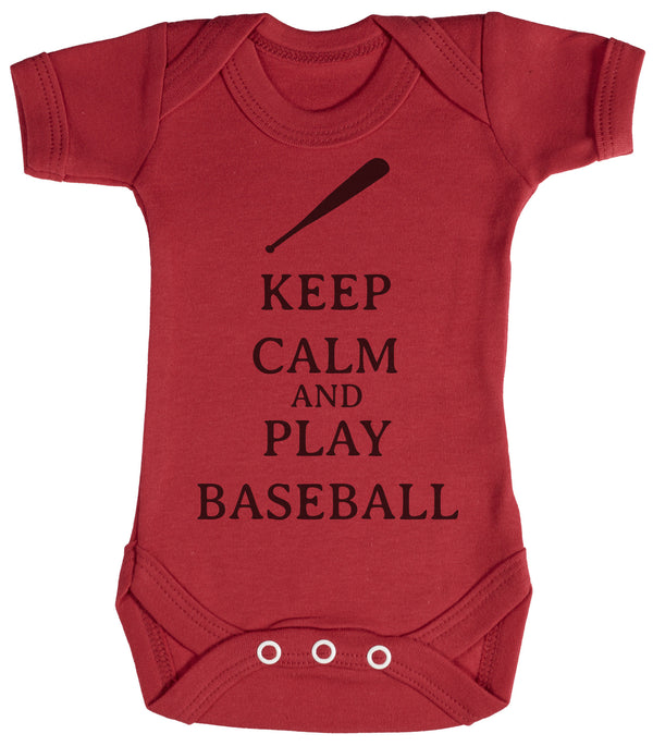 Calm Play Baseball Baby Bodysuit / Babygrow