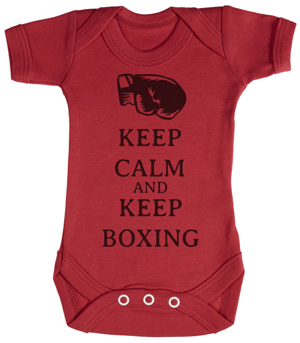 Calm Keep Boxing Baby Bodysuit / Babygrow