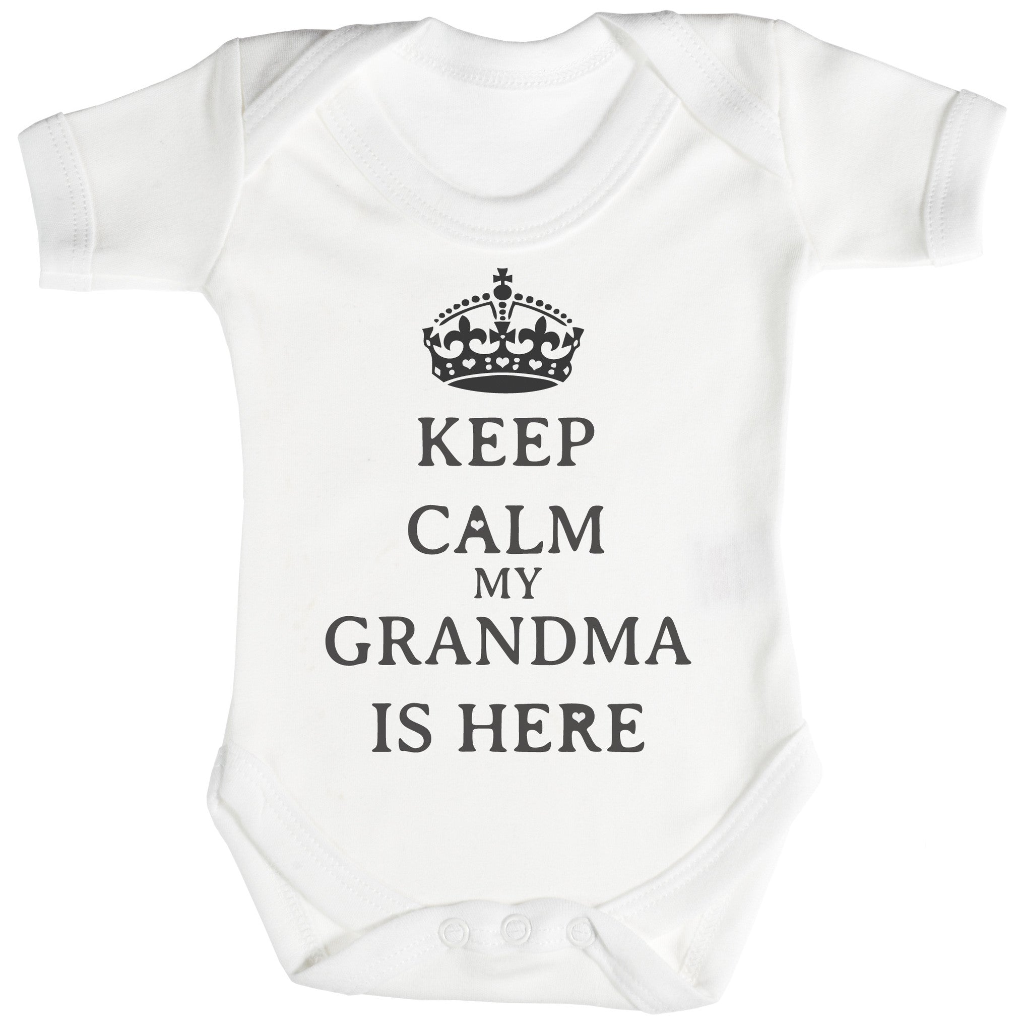 Calm Grandma is Here Baby Bodysuit Babygrow