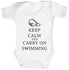 Carry On Swimming Baby Bodysuit / Babygrow