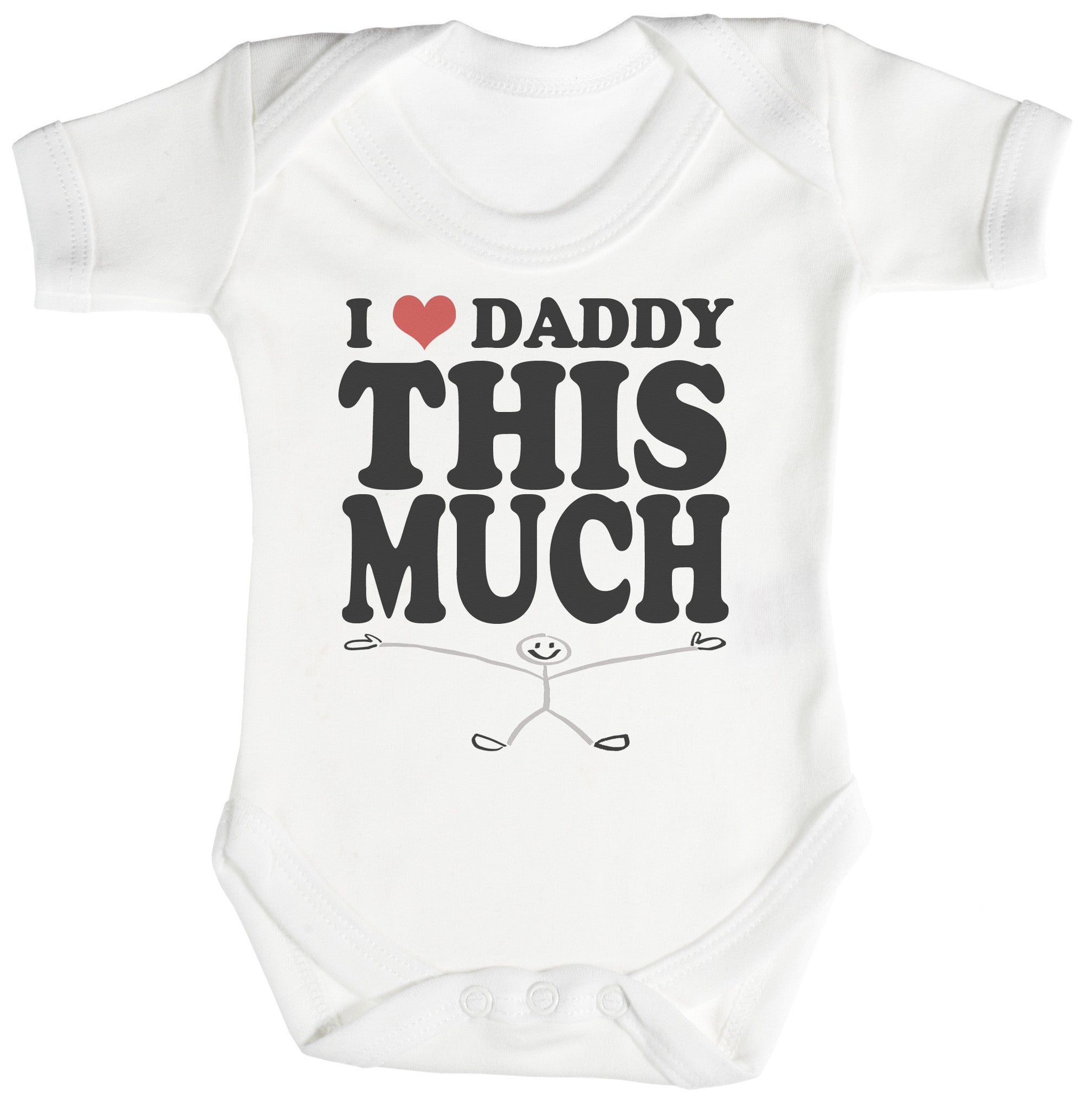 Love Daddy This Much Baby Bodysuit Babygrow